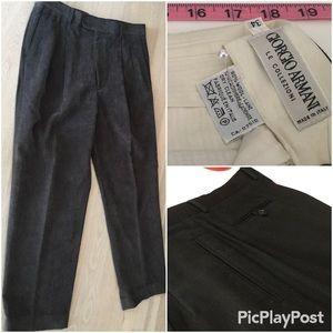 Giorgio Armani Collezioni Dress Slacks Black SZ.34